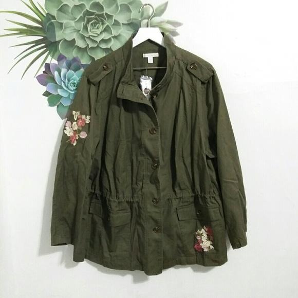 8c34679f35 Westport Embroidered Green Anorak Utility Jacket